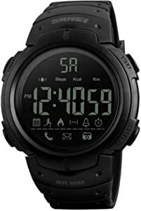 SKMEI Men's 5ATM Water-resistant Sport Fitness Tracker Smart Watch BT Pedometer / Stop Watch / Count Down / Alarm / Distance / Calorie / Calls Remind / Remote Camera App for iPhone Samsung