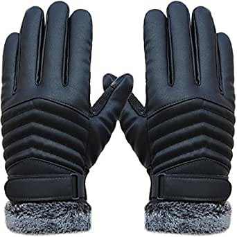Little Chair Mens Touch Screen Winter Warm Leather Gloves