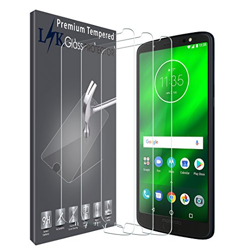 [3 Pack] LK Screen Protector for Motorola Moto G6 Plus/Moto G Plus (6th Generation), Tempered Glass [NOT Fit for Moto G5 Plus]