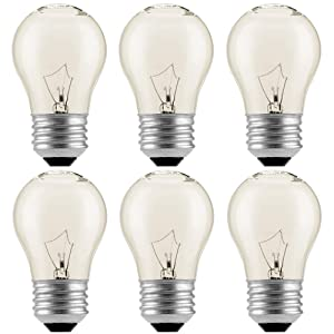 (6-Pack)Appliance Oven Refrigerator Bulbs, Appliance Light Bulb, High Temp - 120v Clear E27/E26 Medium Base,40 Watt,Oven Light Bulb - G45