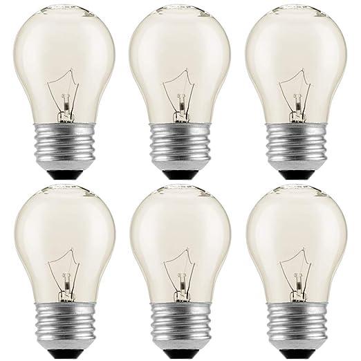 Amazon.com: Paquete de 6 bombillas para nevera de horno de ...
