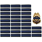 #9: 30 Pack Thin Blue Line Police Mourning Band Stripe Police Officer Badge Shield Funeral Honor Guard Straps, 1/2