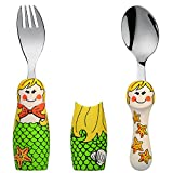 Eat4Fun Duo Collection Kids Fork & Spoon, Mermaid