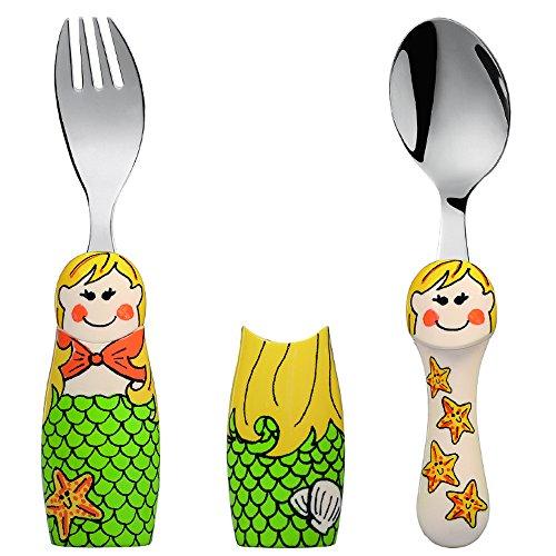 Eat4Fun Duo Collection Kids Fork & Spoon, Mermaid by Eat4Fun
