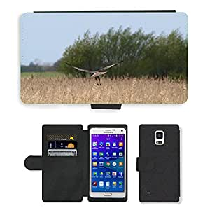 PU LEATHER case coque housse smartphone Flip bag Cover protection // M00130308 Raptor Ave Rapaz ala del pájaro // Samsung Galaxy Note 4 IV