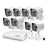 Zmodo 8 Channel NVR 8 1st Gen Camera sPoE Security Camera System Remote Monitoring, no HDD