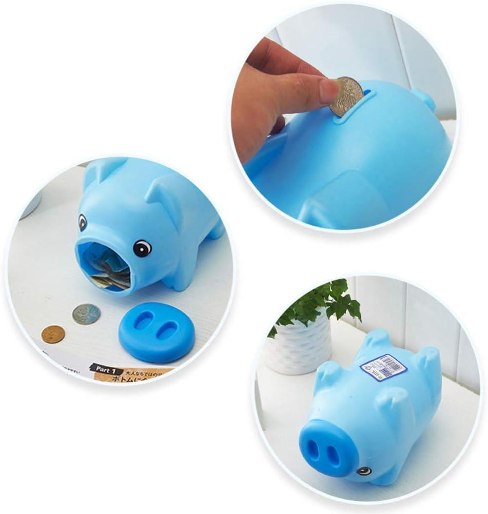 Garneck 1PCS Cute Plastic Piggy Bank Coin Bank Saving Pot Money Bank Birthday Nursery Decor for Girls Boys