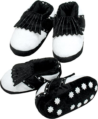 - ProActive Sports Soft Padded Golf Shoe Slippers, Black/White, Children's X-Small
