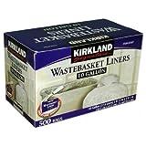 Kirkland Signature 10 Gallon Clear Wastebasket Liner 500 Count