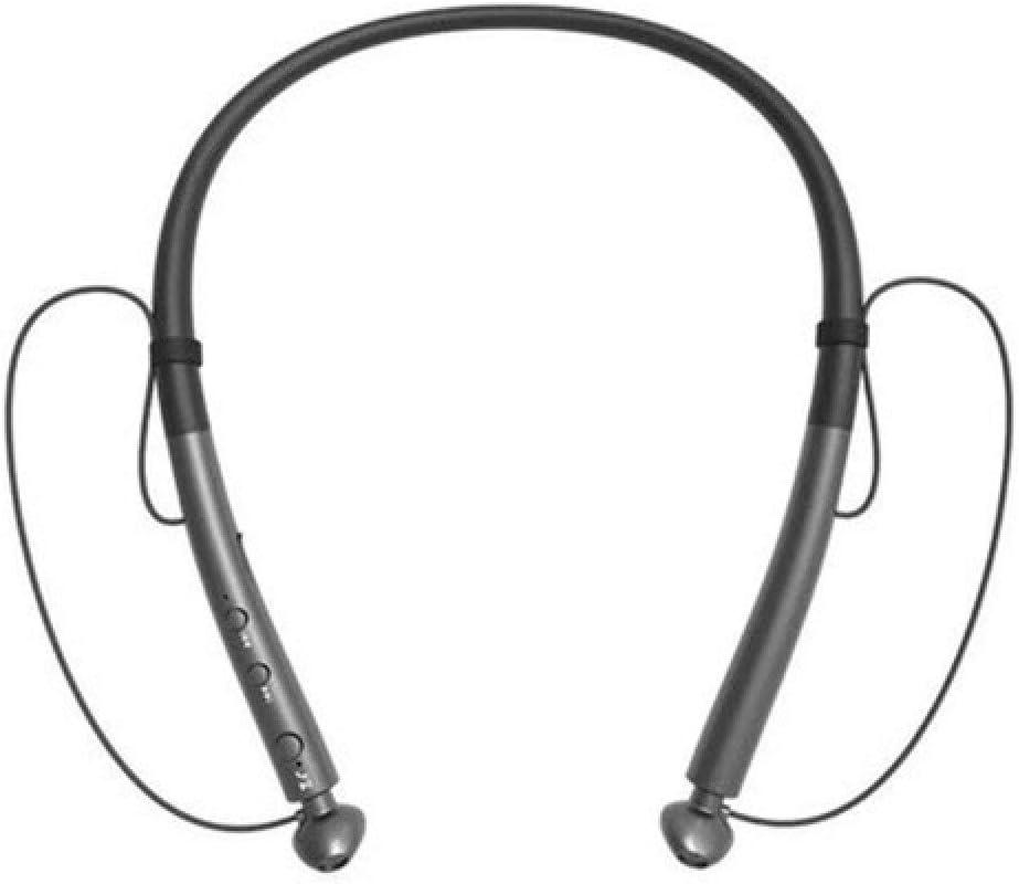 chachacha Sports Neck Hanging Wireless Bluetooth Headset Double Ear 5.0 Stereo Ultra Long Standby Waterproof Heavy Bass HeadphonesDeep Space Grey