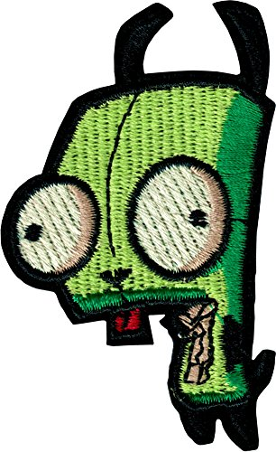 Invader Zim - Gir the Robot in Green Dog Costume - Embroidered Iron On or Sew On Patch]()