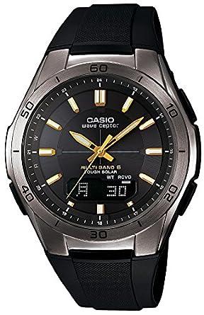 b61686bb4e8d Amazon.com  CASIO WAVE CEPTOR (WVA-M640B-1A2JF) 6 MULTI BANDS SOLAR ...