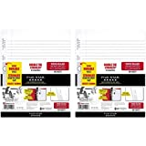 Five Star Loose Leaf Paper, 3 Hole Punched, Reinforced Filler Paper, Wide Ruled, 10-1/2 x 8 inches, 100 Sheets/Pack, 2 Pack (15000)