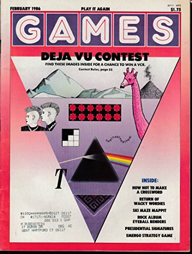 - GAMES 2 1986 Wacky Wordies Rock Album covers; Emergo Strategy Game