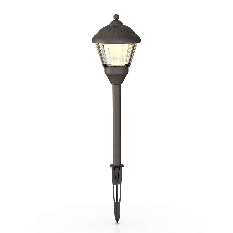 GOODSMANN Outdoor LED Low Voltage Landscape Lighting 1.5 Watt Pathway Light, 100 Lumen Warm White, Brown, 9920-G115-01