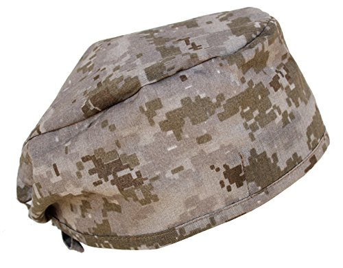 Hiphopville Military ACU Digital Tan/Brown Camo Scrub Cap Bandana with Tie (Desert Digital Bandana)