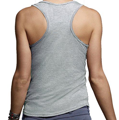 DesignDivil - Camiseta - para mujer a. Heather Light Grey