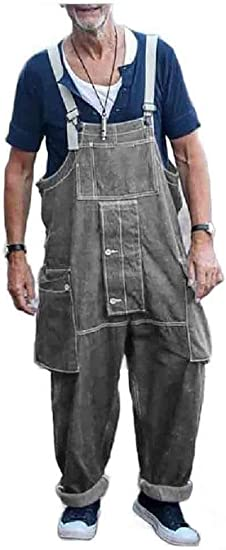 Kankanluck メンズ マルチポケット ファッション デニム ロング パンツ カジュアル ヒップホップ ジーンズ