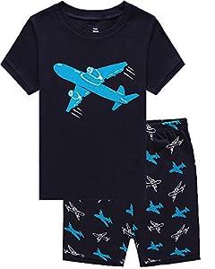 IF Pajamas Little Boys Shorts Set Pajamas 100% Cotton Clothes Toddler Pjs Kid