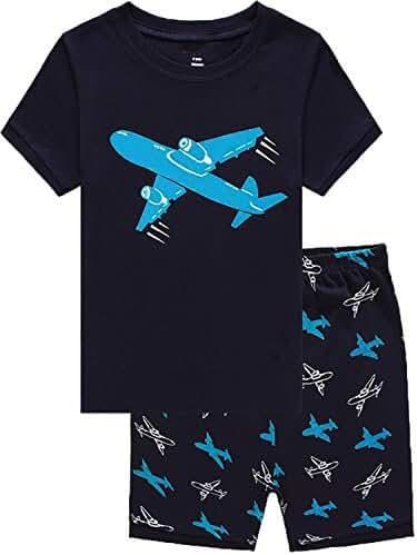 Boys Pajamas Dinosaur Little Kid Shorts Set 100% Cotton Sleepwear Toddler Pjs