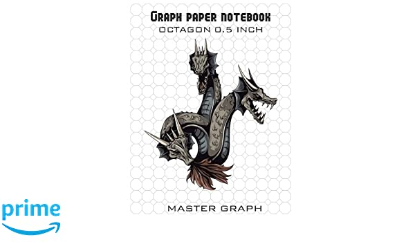 Graph Paper Notebook: 100 Pages Octagon 0.5 Inch: Master Graph ...