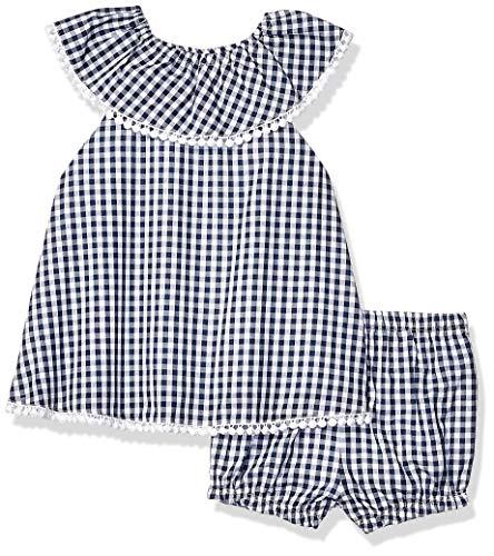 Sunsuit Woven - Little Me Baby Girls 2 Piece Woven Sunsuit, Blue 6 Months