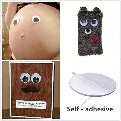 7.5 cm Artmaze 6 pcs Giant Wiggle Googly Eyes Self Adhesive Large Wiggle Eye Stickers 3 inches Wiggle Eyes