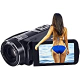 SEREE Camcorder 10x Optical Zoom Camcorder Full HD 1080p 30fps 24MP Remote Control Digital Video Recording Camera With HDMI 3.0 Inches Touch Screen