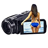 SEREE 10x Optical Zoom Camcorder Full HD 1080p 30fps 24MP Remote Control Digital Video Recording Camera With HDMI 3.0 Inches Touch Screen