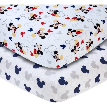 Let's Go Mickey II Set of 2 Crib Sheets,Disney