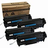 4 Pack V4INK ® New Compatible HP Q2612A(12A)/Canon 104/FX-9/FX-10 Toner Cartridge-Black, Office Central