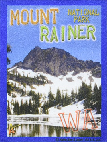 Best Ultimate Iron On Mount Rainer Travel Collectable Souvenir Patch - National Parks & Monuments Souvenir Postcard Type Quality Photos Graphics - Mount - Washington Postcard Photo