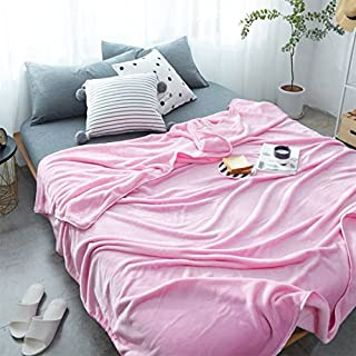 DoremiHome Fleece Throw Blanket 59x78 Inch Simple Solid TV Blanket Solid  Girls Pink Throws For Sofa