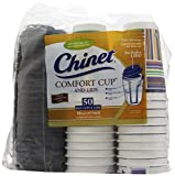 Chinet Comfort Cup (16-Ounce Cups), 50-Count Cups & Lids (Pack of 3)