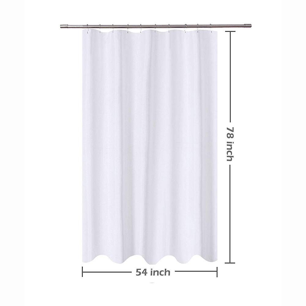 Clearance White Shower Curtain Set Hotel Quality Mildew Resistant Washable Water Repellent Spa Bathroom Curtains 54x 78 Amazon Grocery