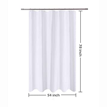 Clearance White Shower Curtain Set Hotel Quality Mildew