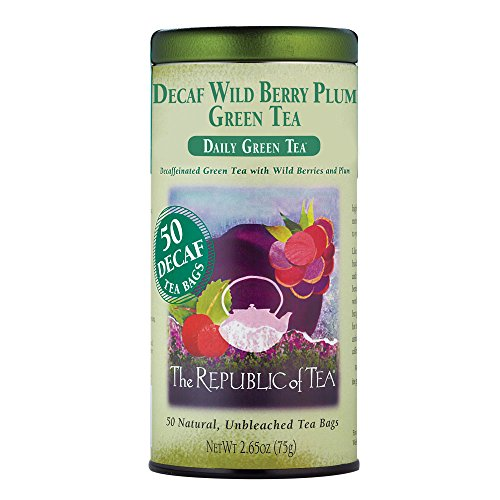 The Republic Of Tea Decaf Wild Berry Plum Green Tea, 50 Tea (Plum Decaf Tea)