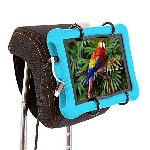 ATK Essential Products Car Headrest Tablet Mount - Holds Tablet for Kids - Ideal Tablet Holder for Car headrest - Holds All Kindle Kids Tablet Fire Models Including Kids Kindle ()