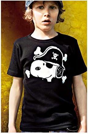 Peanuts Snoopy Pirate T-Shirt Gar/çon Logoshirt