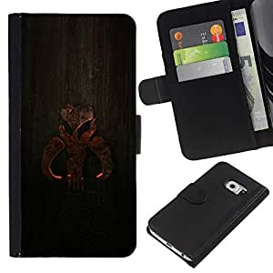 All Phone Most Case / Oferta Especial Cáscara Funda de cuero Monedero Cubierta de proteccion Caso / Wallet Case for Samsung Galaxy S6 EDGE // Wood Sign