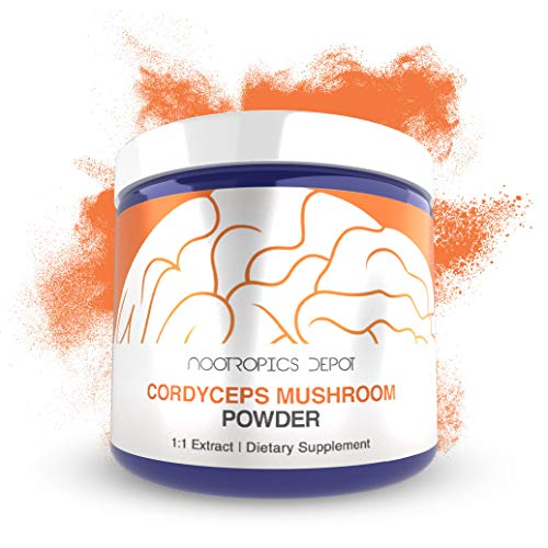 Cordyceps Mushroom Powder 60 Grams Cordyceps militaris Organic Whole Fruiting Body Mushroom Extract Supports Healthy Immune System
