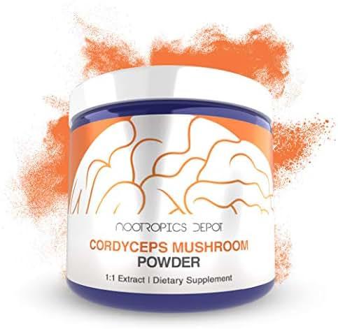 Cordyceps Mushroom Powder | 60 Grams | Cordyceps militaris | Organic Whole Fruiting Body Mushroom Extract | Supports Healthy Immune System