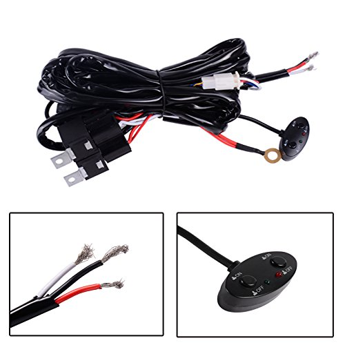DWVO 10ft 12V 40A Dual Control Relay Wiring Harness for 3 Modes Led Light Bar Offroad price tips cheap