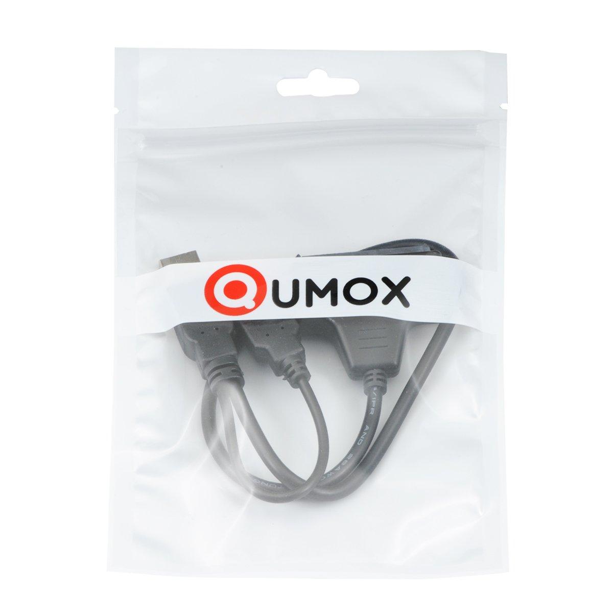 QUMOX USB 2.0 a SATA 2.5 HDD Disco Duro Externo SSD Adaptador de Convertidor Cable PC