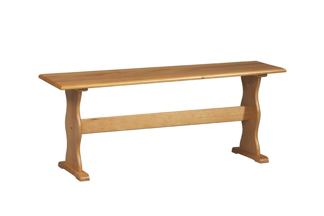 Amazoncom Wooden Nook Bench In Natural Finish Kitchen Dining