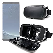 Padded 3D Virtual Reality VR Headset Glasses - Compatible with the Samsung Galaxy S8 | Galaxy S8+ Smartphone - by DURAGADGET