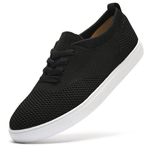 ARTISURE Women's Girls' Skate Shoes Lightweight Breathable Mesh Sports Walking Shoes Casual Fashion Black Sneakers 7.5 M (Girls Casual Skate Shoe)