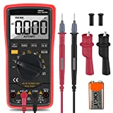Digital Multimeter, LIUMY Auto-Ranging Multimeter with Portable AC/DC Voltage/Current Detector, Volt Amp Ohm Meter with Diode and Continuity Test, Add Banana plug with Backlight LCD (Battery Include)