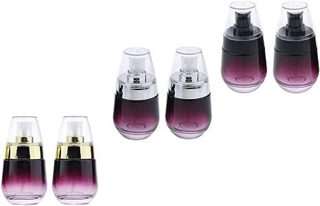 Prettyia 6Pcs Women 30ml Glass Refillable Empty Pump Lotion Spray Bottle Leak-proof