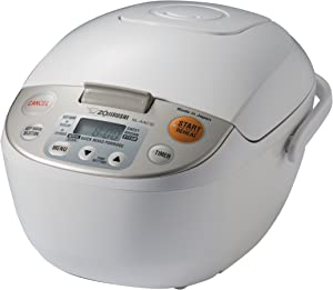 Zojirushi NL-AAC10 Micom Rice Cooker (Uncooked) and Warmer, 5.5 Cups/1.0-Liter, 1.0 L,Beige
